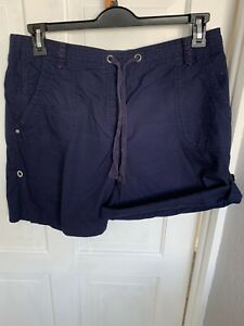 GEORGE NAVY COTTON SHORTS SIZE 14