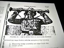 WWII German EM 34 Optics Rangefinder Pamphlet Manual US Text for Ordnance School