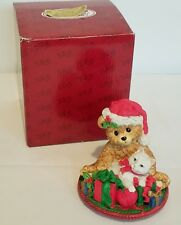 San Francisco Music Box, Teddy & Kitten Figurine, The Christmas Song, 1996