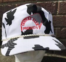 Vintage Century Farm Products Cow Print Snapback Hat Cap OSFA NWOT