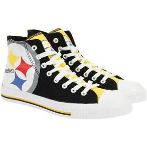 Pittsburgh Steelers NFL Men's High Top Big Logo Canvas Shoes FREE SHIP