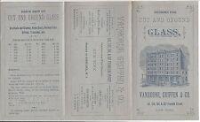 c1880 Illus Brochure, Cut & Ground Glass Designs, Vanhorne, Griffen & Co, Ny