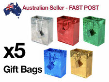 x5 X-Large Holographic Paper Gift Bags Bag Party Wedding Bulk Vintage Christmas