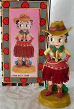 1997 King Features Darling Betty Boop, Ceramic Cowgirl, Nodder, Bobber Doll MIB