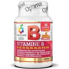 OPTIMA VITAMINA B COMPLEX 60 COMPRESSE INTEGRATORE VITAMINE B1 B2 B3 B5 B6 B12