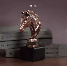 """New Item 2015 - Zebra Head - 5"""" x 8"""" Beautiful Bronze Statue / Sculpture Nib"""