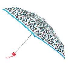 Totes Compact Round 5 Section Small Folding Umbrella - Panther Border Print