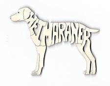 Weimaraner Dog laser cut wood Magnet