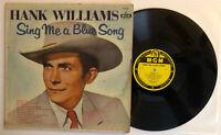 Hank Williams - Sing Me A Blue Song - 1957 Mono 1st Press (VG+) Ultrasonic Clean