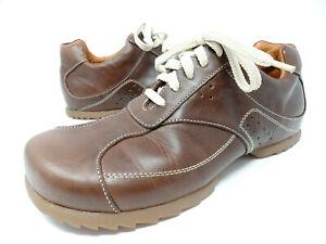 Vintage 90s Steve Madden Lace up Sneakers Men SZ 8 Tapper Brown Leather Oxfords