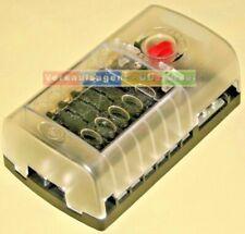 Sicherungshalter, 12-fach Halter, 6, 12, 24 Volt, KFZ / Boot / Wohnmobil