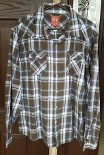 WRANGLER Plaid Western Pearl Snap Button Down Shirt Size XXL