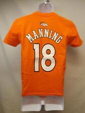 New-Minor Flaw Denver Broncos #18 Peyton Manning Youth Medium 10/12 Orange Shirt