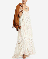 Ralph Lauren Denim & Supply Patchwork floral  Long cotton Maxi Dress M NEW