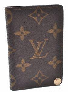 Auth Louis Vuitton Monogram Porte Cartes Pression Credit Brown M60937 LV B7648