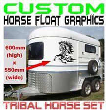 Horse Float Tribal Vinyl Cut Decal Sticker Pair