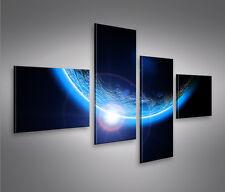 Blue Space 4L Bild auf Leinwand Bilder Kunstdruck Wandbild Poster