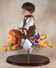 Vintage Danbury Mint C.D. Jason On Carousel Lion Porcelain Doll 14 Inch 1992