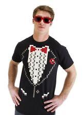Pixel 8 Tuxedo Shirt Size L/XL Black T-Shirt New by Elope 404460
