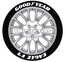 "PERMANENT TIRE LETTERS - GOODYEAR EAGLE F1  - 0.75"" 17""-19"" Wheel (8 Decal Kit)"