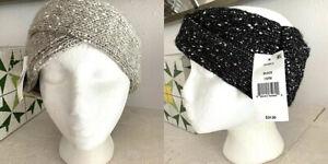 DKNY Fleece-Lined Twist Headband Choose your color (Black or Grey)