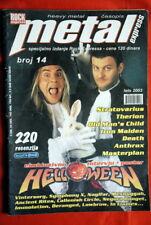 HELLOWEEN ON COVER RARE EXYU MAGAZINE