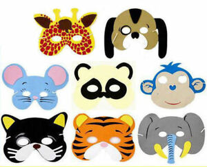 6 Foam Animal Masks - Pinata Toy Loot/Party Bag Fillers Wedding/Kids