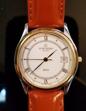 French Michel Herbelin Men's Watch Stainless Steel Gold Swiss 7 Jewel ~ Paris