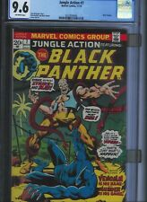 CGC 9.6 JUNGLE ACTION #7 SOLO BLACK PANTHER STORY 1ST APP VENOMM O/W PAGES