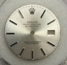 Rolex Mens Datejust 36mm Silver Stick Dial Part -T Swiss Made T-16014-16234
