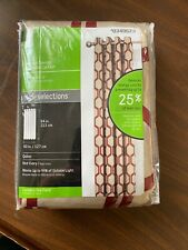 Energy-Saving Blackout Curtain Style Selections 84x50 in Red-Ivory