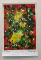 "Signed Numbered W. Baxter Perkinson Art Watercolor Lithograph - ""Festive Lights"""