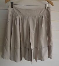 Basque Women's Beige Skirt with Pockets - Size 10