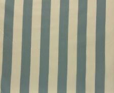 "NEW DELHI STRIPE BAHAMA BLUE SAND S3017 100% SILK MULTIUSE FABRIC SAMPLE 2"" X 4"""