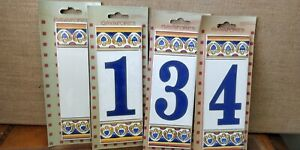 Brand New Ceramic House NUMBERS -- Made in Spain -- Tiles -- Gayafores