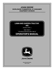 John Deere 455 Lawn Garden Tractor Owner Operator Manual User Guide Omm117695 Cd