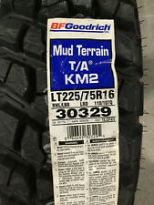 1 New LT 225 75 16 LRD 8 Ply BFGoodrich Mud Terrain T/A KM2 Tire