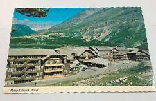 Many Glacier Hotel Souvenir Vintage Postcard Glacier National Park Montana