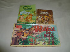 Vintage Wicket The Ewok Book Boardgame Lot Star Wars Rotj Goes Fishing 1980S Vtg