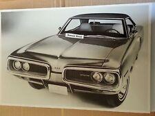 """12 X 18"""" Black & White PICTURE of 1970 Dodge Coronet 500 2 Door Hardtop # 2"""