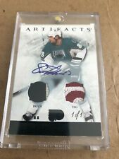 12/13 UD ARTIFACTS ERIC LINDROS AUTOGRAPH PATCH AND TAG CARD #1/1