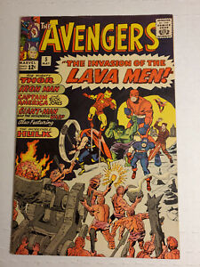 Avengers #5 8.0+(VF) See pics Early Avengers with Hulk Marvel Comics MAY 1964