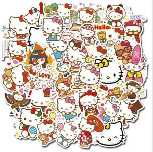 50 Hello Kitty Stickers Decorate Laptop Phone Books Tablets Party Bag