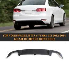Dual Outlet Rear Bumper Diffuser Lip Fit for Volkswagen Jetta 6 VI MK6 GLI 12-14