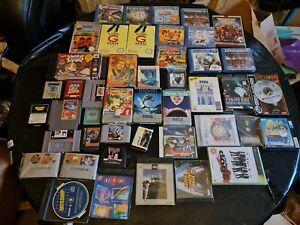 Wholesale job lot bundle 40 + dreamcast nes snes megadrive game gear games A3