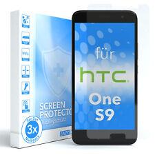 3x HTC One S9 Panzerfolie Displayschutz Schutzfolie Folie Klar