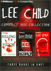 LEE CHILD 9 CD AUDIO BOOK 3 BOOKS IN ONE KILLING THE FLOOR DIE TRYING TRIPWIRE