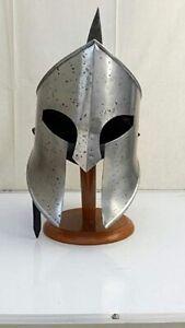 Medievale King Leonida Casco Spartan Casco 300 Film Casco + Gratuito Fodera Larp