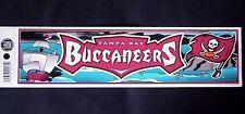 "TAMPA BAY BUCCANEERS FOOTBALL TEAM Bumper Sticker 11""x 3"" Sports NFL Licensed"