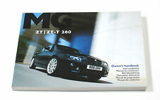 MG ZT & ZT-T 260 Owner's Handbook (RCL 0588, 3rd Edition) *NEW/UNUSED*
